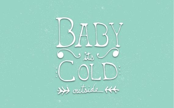 Noel Ordinateur Papier Peint Bebe C Est Cold Outside Pour Etsy