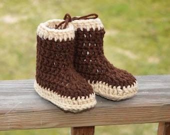 Xtratuf inspired crochet baby booties