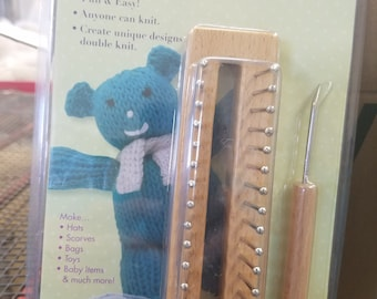 """Updated 38/"""" Afghan Knitting Board lighter weight hook instructions pattern"""