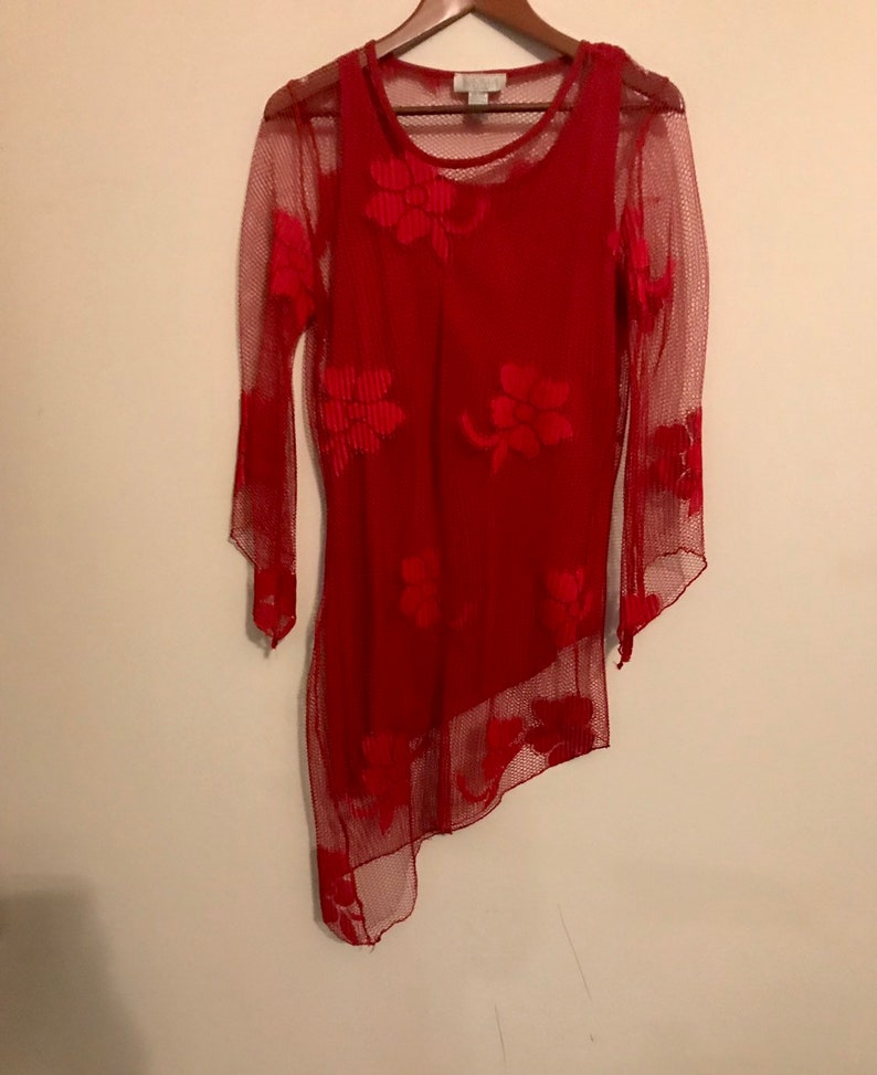 Red blousetop by Maria Gabrielle