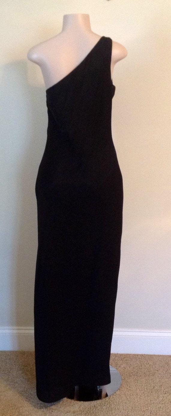 Black Long  Marien St. Claire Formal Gown - image 2