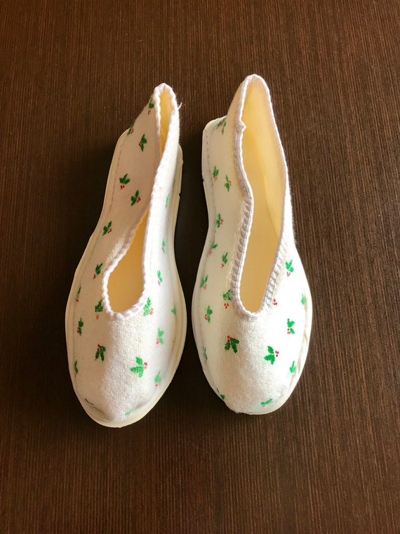 Vintage christmas Slippers, bedshoes houseshoes - image 2