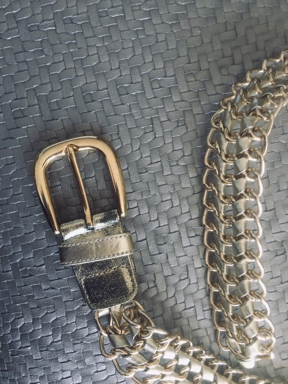 Gold on Gold  Patent Leather Belt - image 2