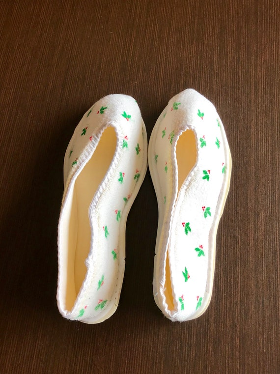 Vintage christmas Slippers, bedshoes houseshoes - image 6