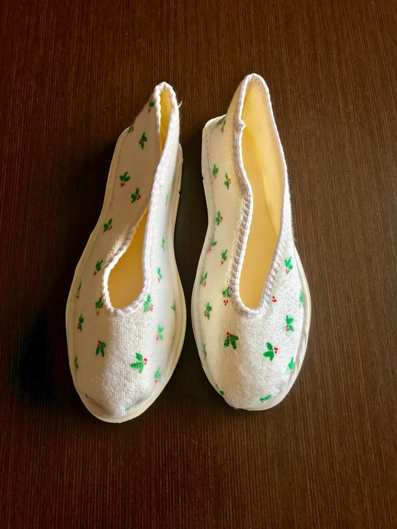 Vintage christmas Slippers, bedshoes houseshoes - image 7