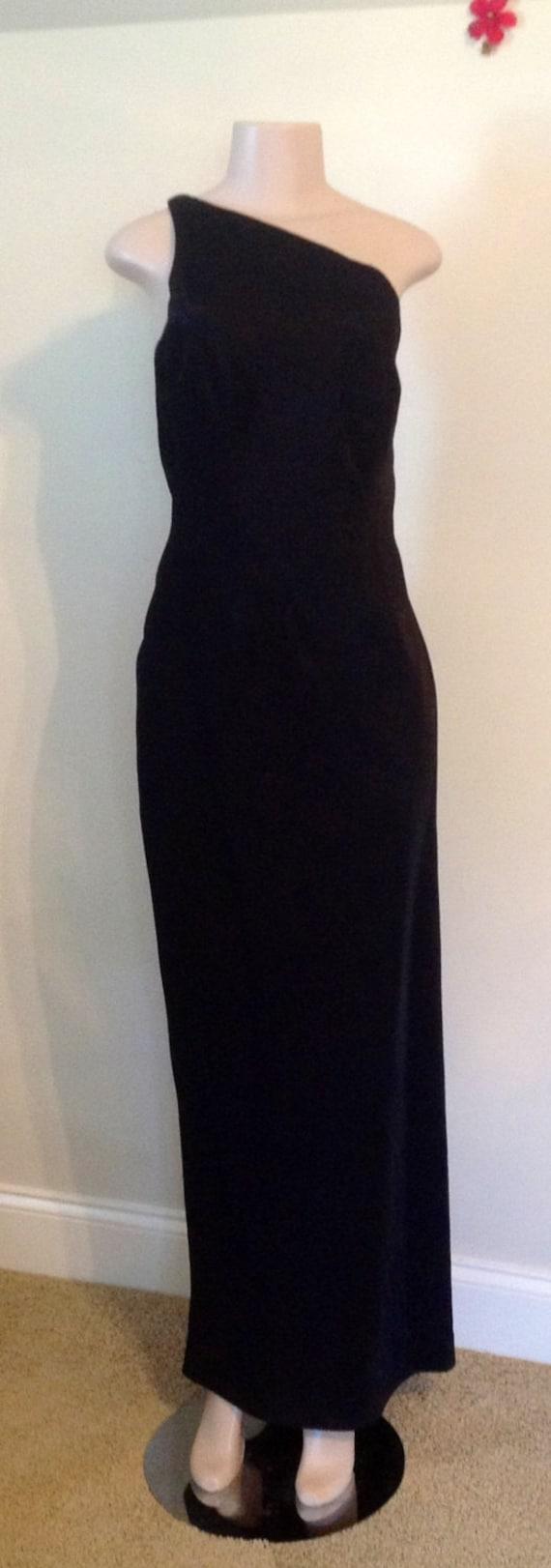 Black Long  Marien St. Claire Formal Gown - image 1