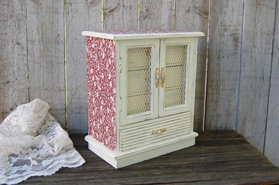 bo te bijoux shabby chic bo te musique armoire bijoux etsy. Black Bedroom Furniture Sets. Home Design Ideas