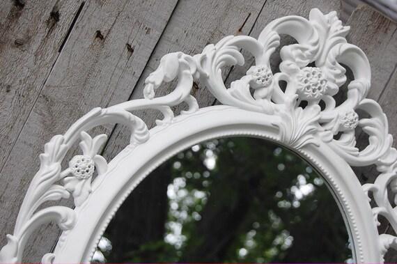Barok Spiegel Wit : Wand spiegel shabby chic barokke spiegel wit ovaal etsy