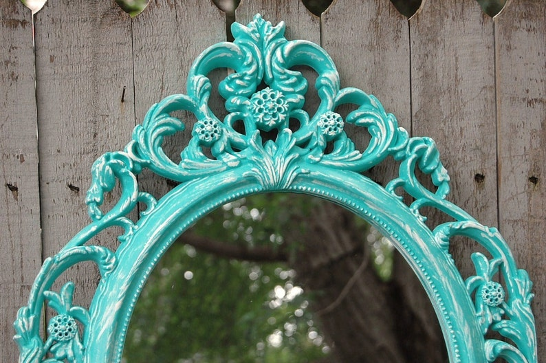 Barok Spiegel Wit : Shabby chique spiegel wand spiegel barok spiegel aqua etsy