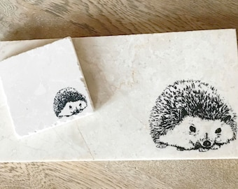 HEDGEHOG natural stone platter and coaster tableware (various sizes) & BEE natural stone platter and coaster tableware various
