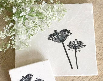 Beautiful  COW PARSLEY  natural stone tableware & Handmade Natural Stone Tableware from the by ENCOREHOMEgift