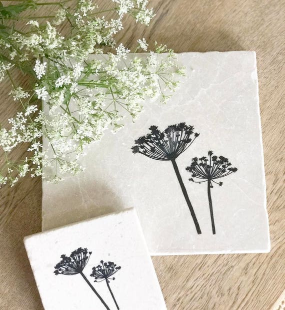 sc 1 st  Etsy & Beautiful COW PARSLEY natural stone tableware