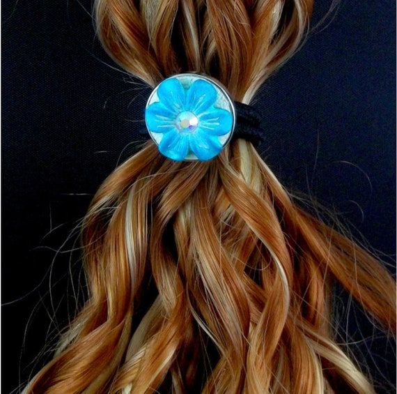 Ponytail Holder Snap Jewelry 18mm Fits 18-20mm Ginger snaps Snap Hair Tie with Pearl Beads DIY-2-V Noosa Magnolia /& Vine