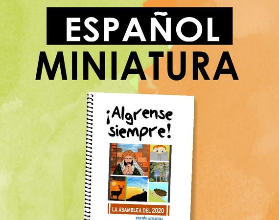 Spanish / ESPAÑOL -EDICIÓN  MINIATURA Download -Always Rejoice! (2020 Children's Notebook) English Digital pdf File