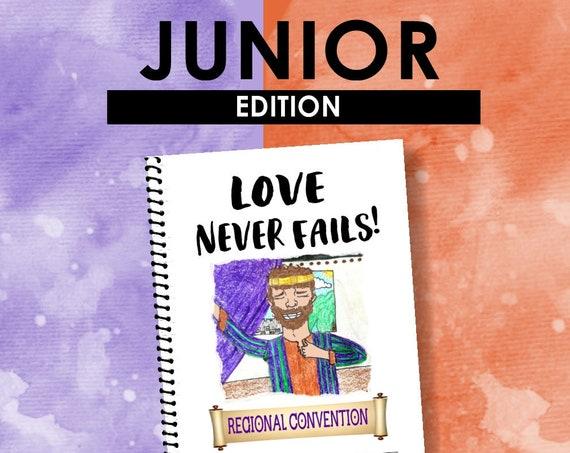 JUNIOR EDITION Download -Love Never Fails! (2019 Children's Notebook) English Digital pdf File