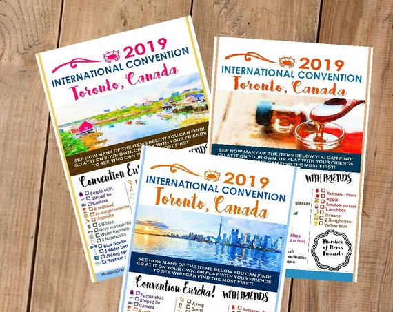 CANADA International Convention (JW) Printable Convention Eureka Sheets