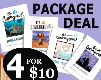 Be Courageous! Convention (Package Deal ~ 4 CHILDREN'S NOTEBOOKS) DIGITAL pdf File Download -Mini, Junior, Standard, and Illustrated