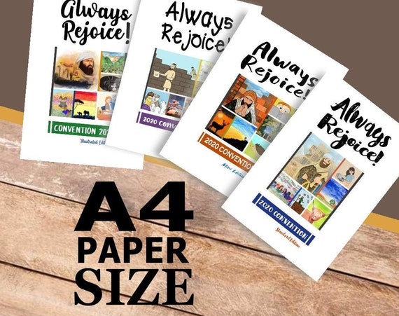 A4 Paper Size Format PACKAGE DEAL -Always Rejoice! (4 Printable Children's Convention Notebooks) DIGITAL pdf File