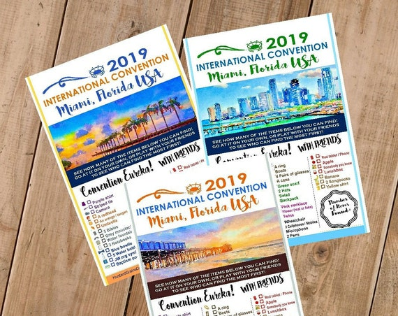 FLORIDA International Convention (JW) Printable Convention Eureka Sheets