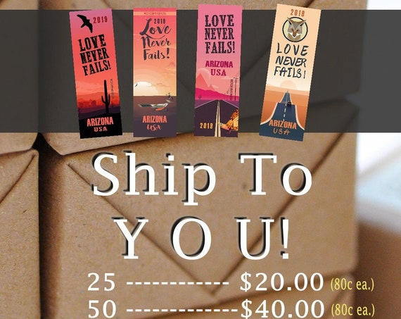 Arizona Bookmarks / Shipped To You -International Convention BOOKMARKS Souvenir/Gift -2019