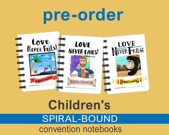 Spiral-Bound LOVE NEVER FAILS 2019 Children's Convention  Notebooks