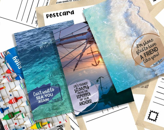 4 Seaside Postcards (Set)