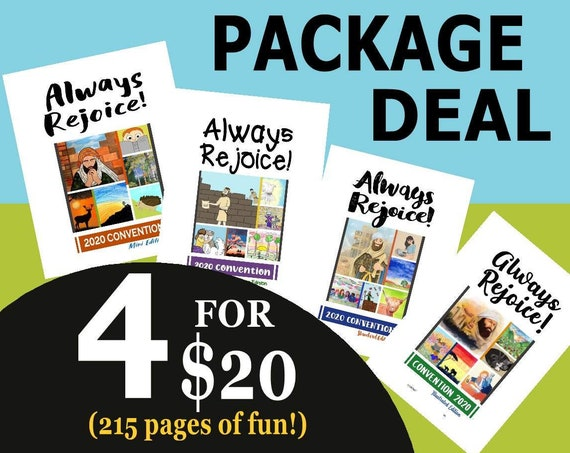 PACKAGE DEAL Download 8.5 x 11 Paper Size -Always Rejoice! (4 Printable Children's Convention Notebooks) DIGITAL pdf File