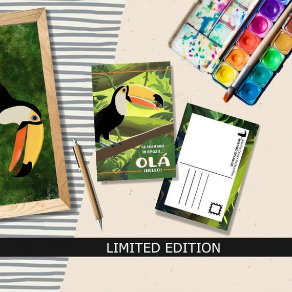 The Toucan LIMITED EDITION Postcard - Artwork by Camila