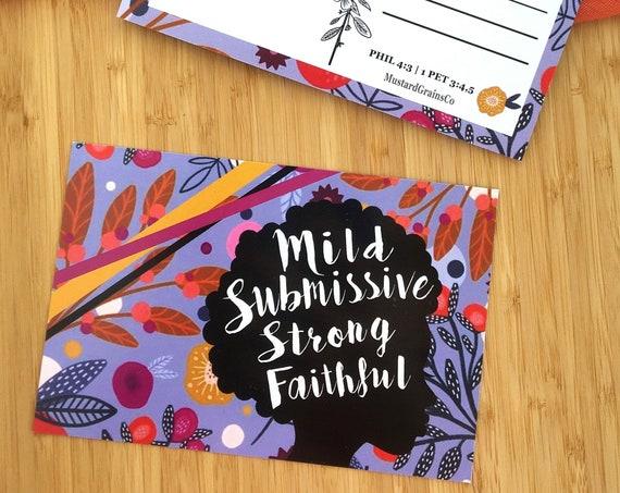 5 Sisters Flowery Silhouette Postcards (Set)