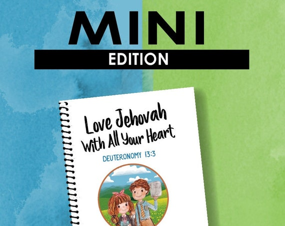 MINI EDITION -Love Jehovah With All Your Heart (Children's Circuit Assembly Notebook) English Digital pdf File