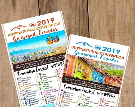 ECUADOR  International Convention (JW) Printable Convention Eureka Sheets