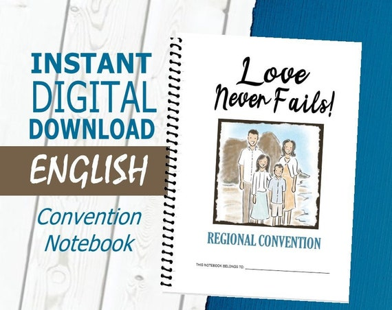 ENGLISH Regular 'Love Never Fails! ' DIGITAL 2019 Regional Convention Notebook PDF File Download