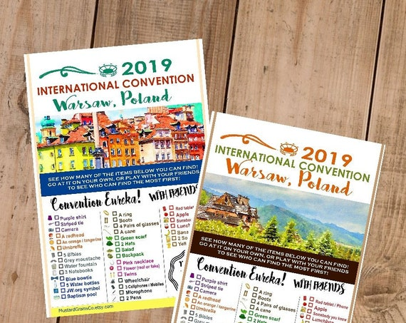 POLAND International Convention (JW) Printable Convention Eureka Sheets