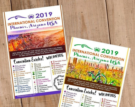 ARIZONA International Convention (JW) Printable Convention Eureka Sheets