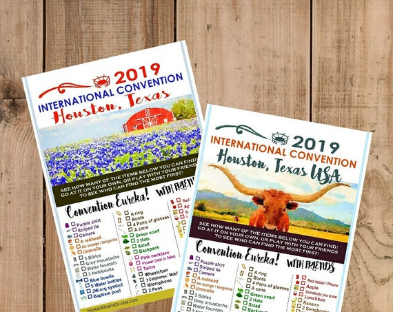 TEXAS International Convention (JW) Printable Convention Eureka Sheets
