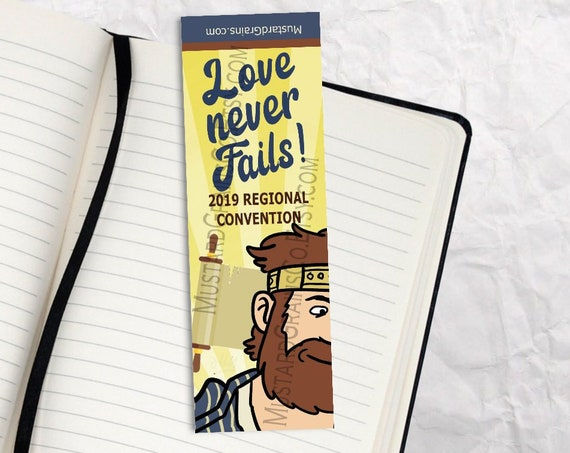 Love Never Fails ~ Printable Bookmark ~ JW 2019 Convention KING JOSIAH Design 1
