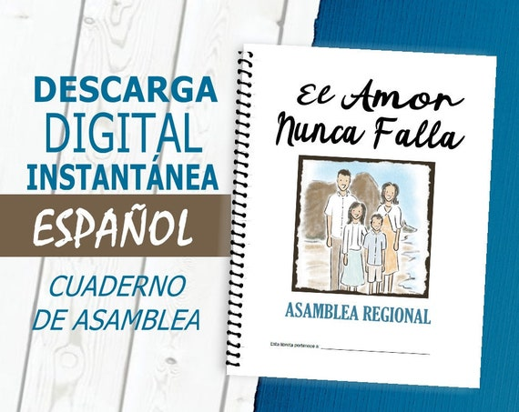 Spanish / ESPAÑOL Regular 'Love Never Fails! ' DIGITAL 2019 Regional Convention Notebook PDF File Download