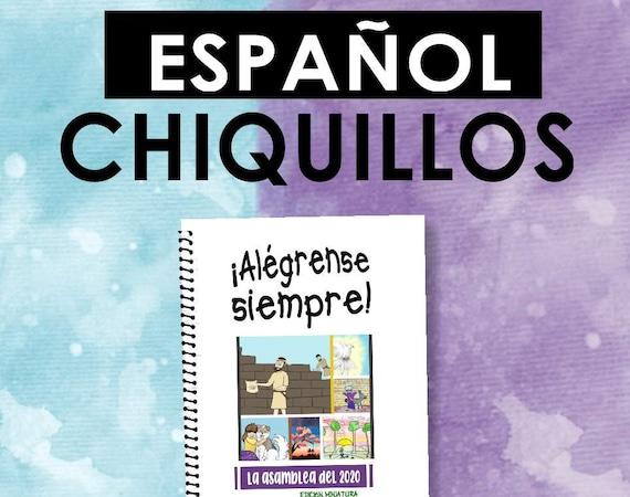Spanish / ESPAÑOL -EDICIÓN CHIQUILLOS Download -Always Rejoice! (2020 Children's Notebook) English Digital pdf File
