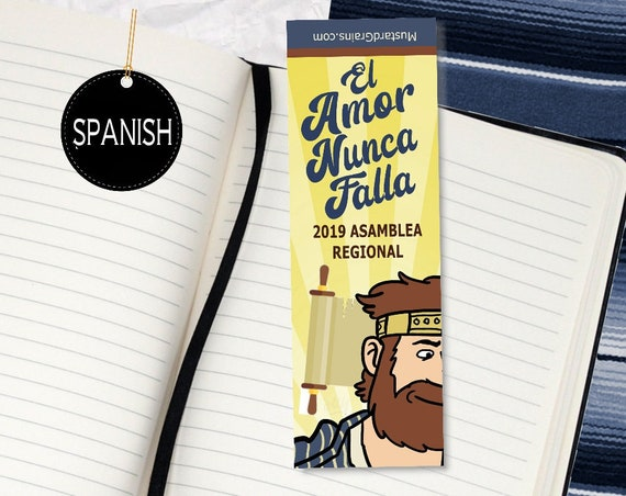 SPANISH : Love Never Fails ~ Printable Bookmark ~ jw 2019 Convention KING JOSIAH Design 1
