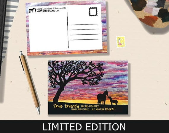 Painted Sky LIMITED EDITION Postcard - Artwork by Caitlin