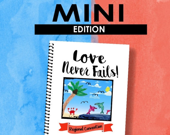 MINI EDITION Download -Love Never Fails! (2019 Children's Notebook) English Digital pdf File
