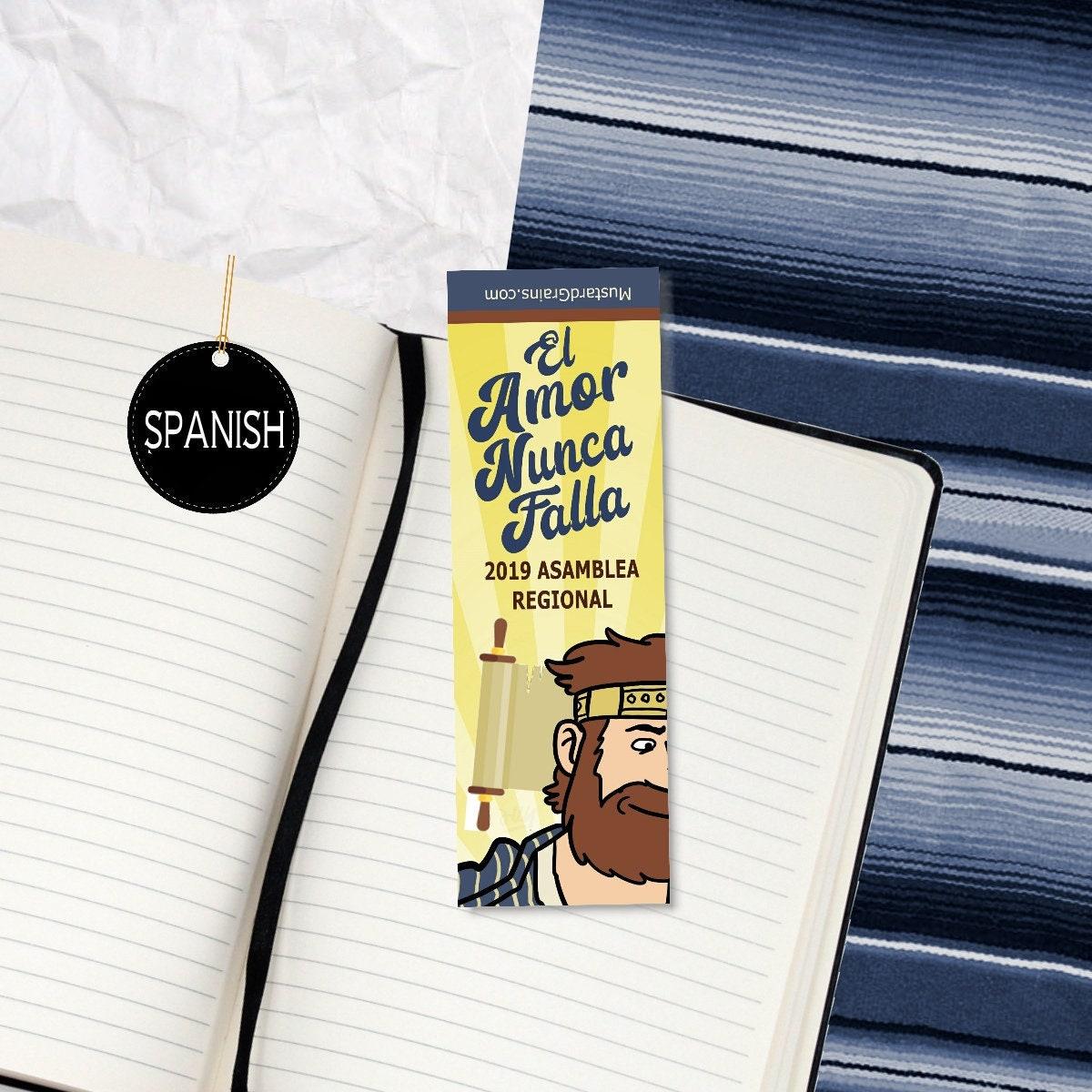 SPANISH : Love Never Fails ~ Printable Bookmark ~ jw 2019