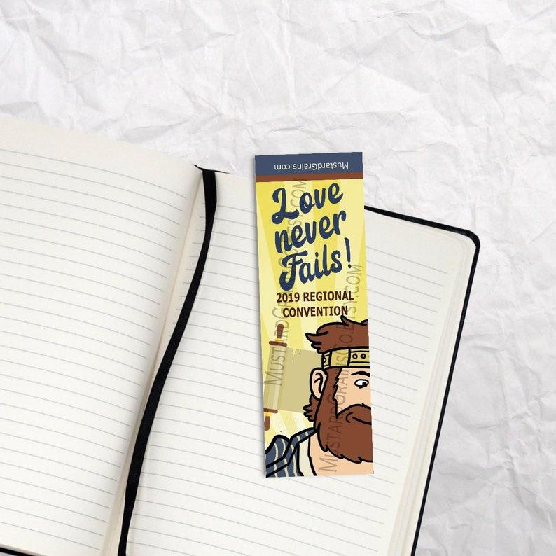 Love Never Fails ~ Printable Bookmark ~ JW 2019 Convention KING JOSIAH  Design 1
