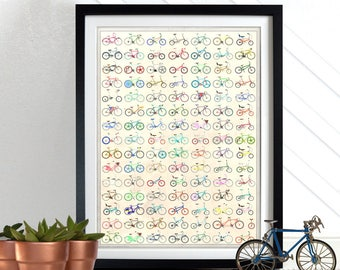 Bicycle, Bicycles, Bike, Bikes, cycling, cycle, Poster Wall Art Hanging Print Home Décor
