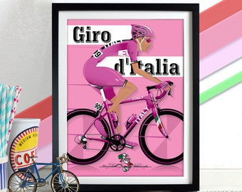 Giro D'Italia Grand Tour Bicycle Bike Race Poster Wall Art Print Home Décor cycling, cycle