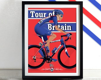 Tour of Britain Bicycle Bike Cycling Poster Wall Art Print Home Décor York cycle race grand tour