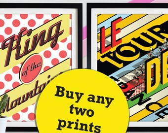 Tour De France, Mix and match prints, buy any two of our bike bicycle cycle cycling poster wall art prints Home Décor