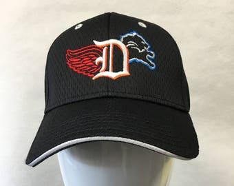 promo code ae48b 1132b Detroit 3 sports Baseball hat