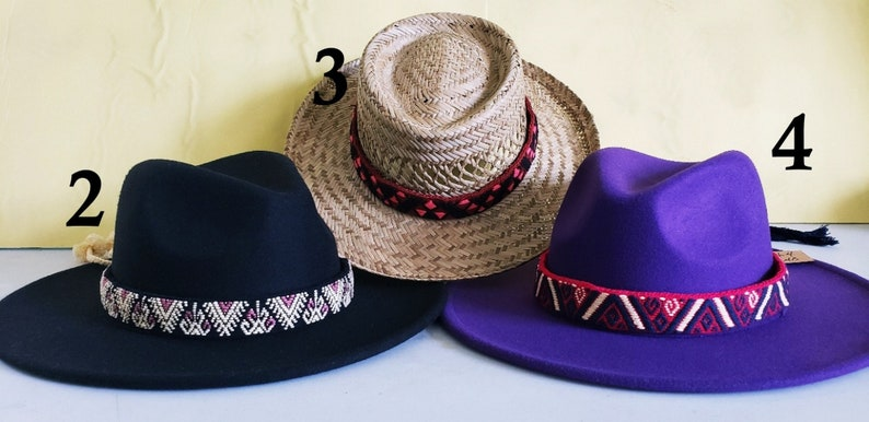 Woven Hat Bands from Chiapas Mexico Aztec Designs Beautiful!