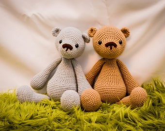 Classic Teddy Bear Crocheted Stuffed Animal/Toy (Made to Order)